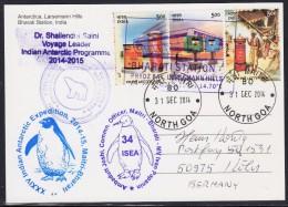 ANTARCTIC,INDIA, Expedition 34, BHARATI + MAITRI 31.DEC 2014, 5 Cachets,color-card, Look Scans !! 23.11-25 - Antarctische Expedities