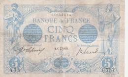 - BILLETS -5 F BLEU - JUILLET 1912 - - 1871-1952 Anciens Francs Circulés Au XXème