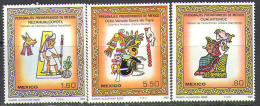 M0758 Indians History Archeology Museum Columbus 1980 Mexico 3v Set MNH ** - American Indians