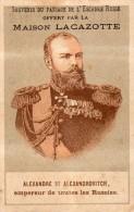 SOUVENIR DU PASSAGE DE L´ESCADRE RUSSE OFFERT PAR LA MAISON LACAZOTTE/PORTRAIT ALEXANDRE III -ALEXANDROVITCH - Vieux Papiers