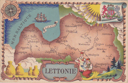 LETTONIE.  CARTE GEO - Lettonie