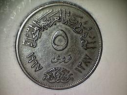 Egypte 5 Piastres 1967/1387 - Egitto