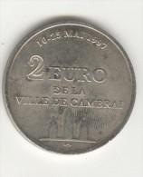 2 Euros - Cambrai - 10 Au 25 Mai 1997 - Euros Des Villes