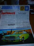 CB7 LC138 Publicit� Journal Opel General Motors Rekord Kadett Ascona Manta Commodore Opel GT Admiral Diplomat