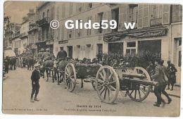 Guerre De 1914 - Artillerie Anglaise Traversant COMPIEGNE (animée) - Oorlog 1914-18