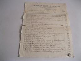 ANCONA ( Castelfidardo) Fattura Del 1910 FARMACIA Dott.A.MARTINI - Italia