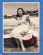 Photo Ancienne - Portrait D'une Jeune Fille Japonaise - Japanese Girl - Lire Verso - Japan Japon - Woman Mode Fashion - Pin-Ups