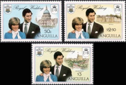 Anguilla, 3 Stamps 1981, Sc # 444-446, Mi # 442Xa-444Xa, MNH. - Anguilla (1968-...)