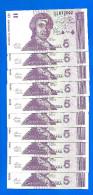 Croatie Lot 10 X 5 Dinara 1991 Serie D Dinars Croatia Neuf Uncirculated Paypal Skrill Bitcoin OK - Croatia