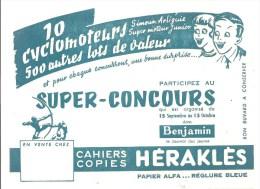Buvard Cahiers Et Copies Héraklès Super Concours 10 Cyclomoteurs 500 Autres Lots - Papeterie