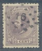 Puntstempel 16 (Breda) Op Nvph 26 - Oblitérés