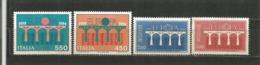 Bridges. Europa 1984.  4 Mint ** Stamps  (Italy-France) - Ponti