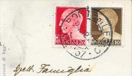 1929 ANNULLO FRAZIONARIO NUMERALE PONTE DI LEGNO - Marcophilia
