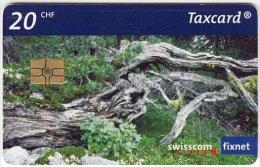 SWITZERLAND A-683 Chip Swisscom - Landscape, Wood, Tree - used
