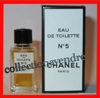 CHANEL : Miniature De Collection. N° 5, Eau De Toilette, Rare En 4,5ml, Avec Sa Boite, Parfait état - Miniatures Modernes (à Partir De 1961)