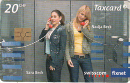 SWITZERLAND - Telephone Booths for Students, Beck Sisters(Sara & Nadja), chip GEM3.3, exp.date 01/10, used