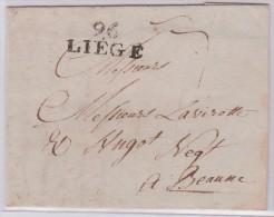 MP-Eu Département Conquis. L Avec Texte. 96 Liège 29mm. 11.1.1801 - Marcofilie (Brieven)