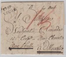 MP-Eu Département Conquis. L Avec Texte. (sans Date) PP96 Liège 20mm. (en Service Depuis 1797)   TB - Marcofilie (Brieven)