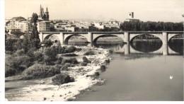 POSTAL    LOGROÑO - ESPAÑA  - RIO EBRO Y PUENTE DE PIEDRA  ( EBRE ET PÒNT DE PIERRE - EBRO RIVER AND STONE BRIDGE ) - La Rioja (Logrono)