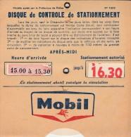 Disque de contr�le de stationnement MOBIL - auto