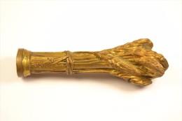 Ancien Cachet / Sceau En Bronze, Forme De Gerbe De Blé, Cultivateur / Céréalier / Fermier. Bronze Signé Alonzo - Cachets