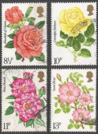 Great Britain. 1976 Centenary Of Royal National Rose Society. Used Complete Set. SG 1006-1009 - 1952-.... (Elizabeth II)