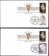 USA 2015 Ingrid Bergman TWO FDC WITH SVERIGE FV $ 7.56  SC 5012   MI 5189 - Ersttagsbelege (FDC)