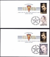 USA 2015 Ingrid Bergman TWO FDC WITH SVERIGE FV $ 7.56  SC 5012   MI 5189 - Eerste Uitgaves (FDC)