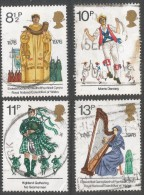 Great Britain. 1976 British Cultural Traditions. Used Complete Set. SG 1010-1013 - 1952-.... (Elizabeth II)