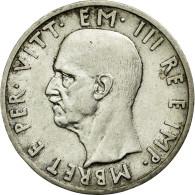 Monnaie, Albania, Vittorio Emanuele III, 5 Lek, 1939, Rome, SUP, Argent - Albanie