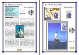 Planche Album Expo : France 2007 : 4114  Phare D'Ar-Men - Afgedrukte Pagina's
