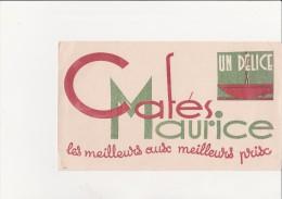 BUVARD PUBLICITE CAFES MAURICE - - Café & Thé