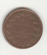 Jeton Belgique 25ème Anniversaire De L´inauguration Du Roi ( Léopold 1er )  - 21 Juillet 1856 - Royal / Of Nobility