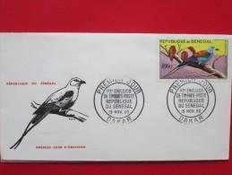 1960 Senegal - Local Birds (High Value Definitives) - FDC (100f) - Senegal (1960-...)