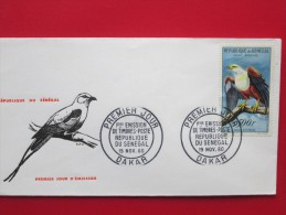 1960 Senegal - Local Birds (High Value Definitives) - FDC (500f) - Senegal (1960-...)