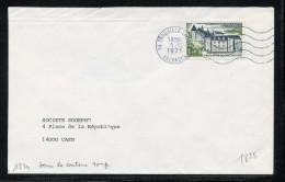 MAURY N° 1825 : 1fr40 CHATEAU DE ROCHECHOUART - VARIETE: SANS COULEUR ROUGE - SEUL S/LSI OM 5/2/75 - Marcophilie (Lettres)