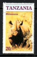 TANZANIE. N°287 De 1986. Rhinocéros. - Rhinozerosse
