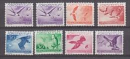 Liechtenstein 1939 Airmail / Birds 7v ** Mh  (= Mint, Hinged) (26219) - Air Post