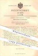 Original Patent - Andreas Radovanovic In Zürich , 1902 , Regelvorrichtung Für Kraftmaschinen , Motor , Motoren !!! - Documents Historiques