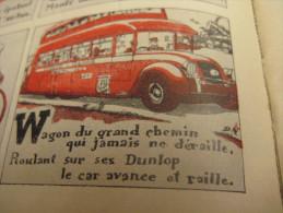 Agenda DUNLOP Pneus - 1930 Comic Illustrations Par Pierre Delarue-Nouvellière & JEAN ROUTIER & J. WANKE - Tires Auto - Books, Magazines, Comics