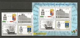 150 Ième Anniversaire De La Marine Nationale Italienne, Un Bloc-feuillet + La Série Neufs ** . Côte 15.00 € - 2011-...:  Nuovi