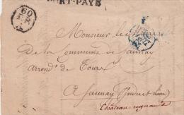 LETTRE 1830 ADMINISTRATION GENERALE DES HOPITAUX ET HOSPICES VILLE PARIS POUR SAUNAY (37). TRAITEMENT ORPHELINS / 6535 - Marcophilie (Lettres)