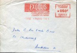"1887 France,  Red Meter Ema Freistempel, 1960 Paris,   Romance And Film  ""exodus"" On Circuled Cover, Film Movie,cinema"