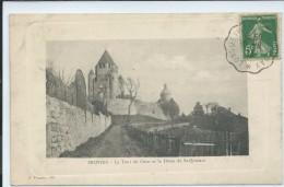 Provins-La Tour De César Et Le Dôme De Saint-Quiriace-(CPA) - Provins