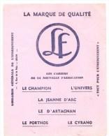 Buvard LF Librairie Générale De L'enseignement 4, Rue De La Paix ORAN La Marque De Qualité - Stationeries (flat Articles)