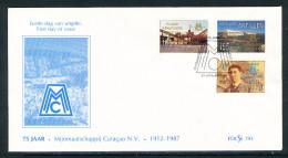 Niederl�ndisch Antillen 75. Jahrestag kompletter Satz auf illustrierten Ersttagsbrief 1987