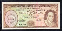 MACAO(PORTUGAL) 1976. 5 PATACAS.BISPO BELCHIOR CARNEIRO. RARO  EBC    B541 - Macao