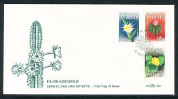 Niederl�ndisch Antillen Kakteen kompletter Satz auf illustrierten Ersttagsbrief 13.12.1988