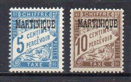2/ Martinique Taxe N° 1 & 2 Neuf  XX  , Cote  8,00€ , Disperse Trés Grosse Collection ! - Timbres-taxe