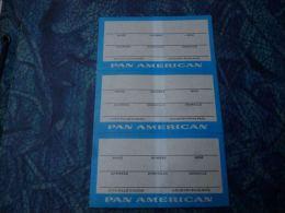 AA3-2 LC138 Lot 3 Fois Etiquette Pan American Airlines - Aviation Commerciale